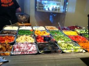 salad counter at plutos