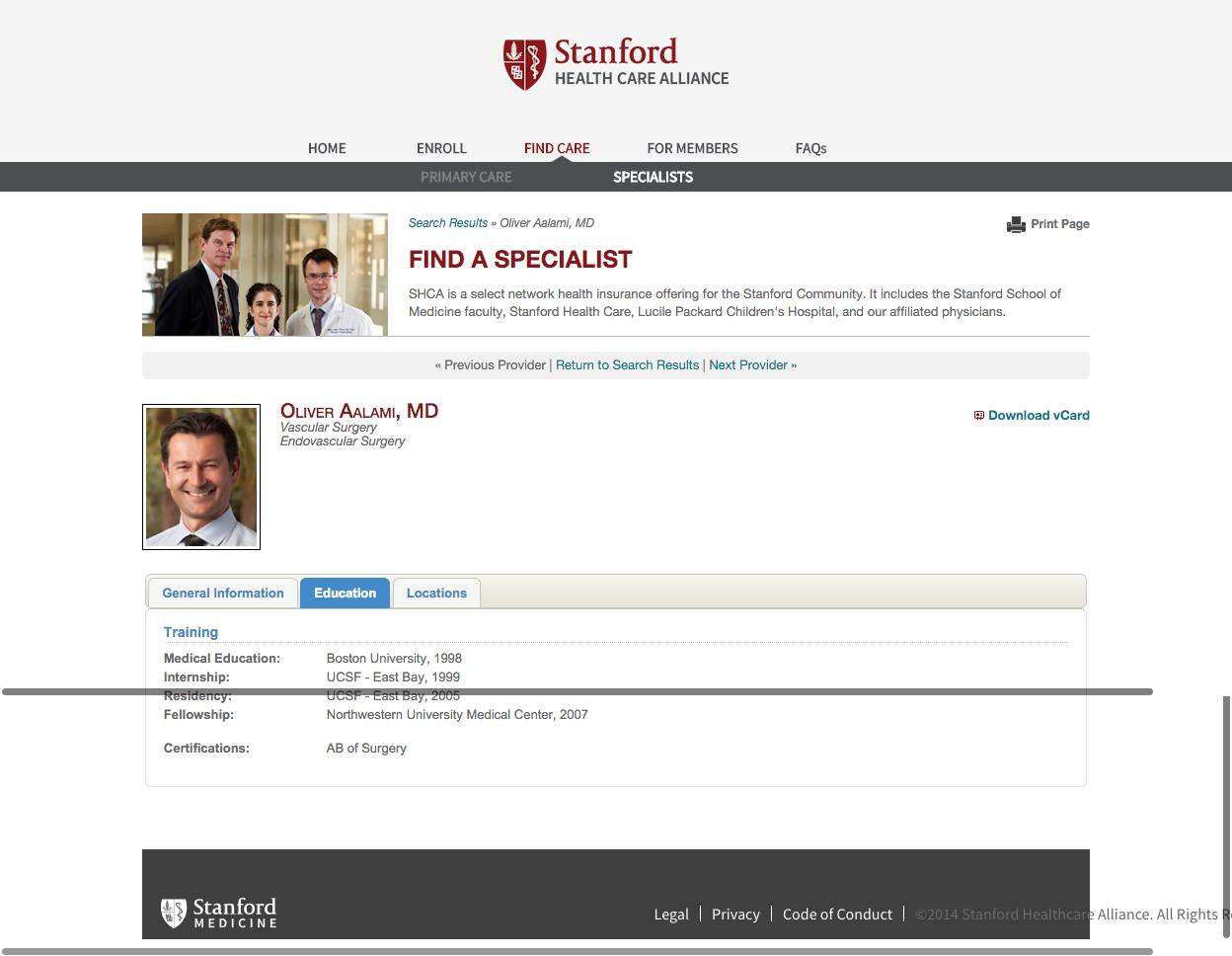 Stanford Healthcare ––––– Increasing awareness of the award