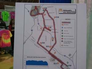 Richmond Half Marathon course