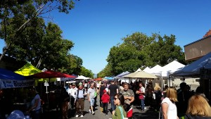 Downtown Campbell Farmers market