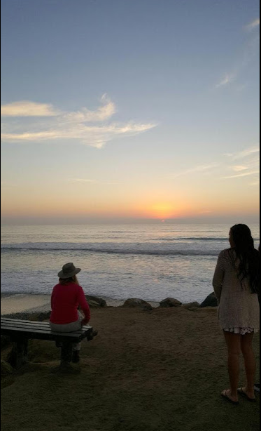sunset with strangers