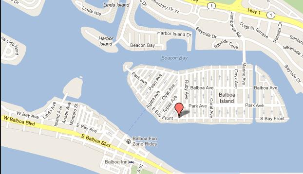 google map of newport beach