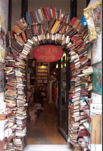 walkway of books